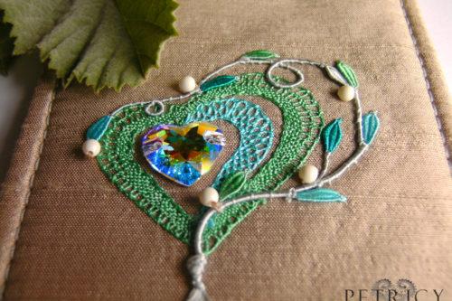 Three Herts - Light Mint Green with Vibrant Light Blue