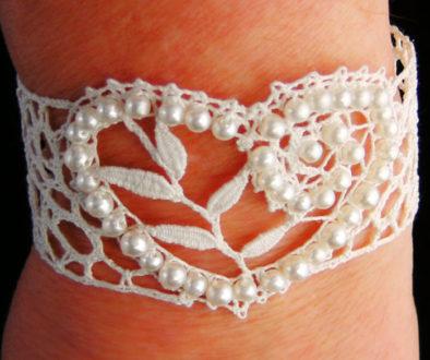 Bobbin Lace Bead Bracelet