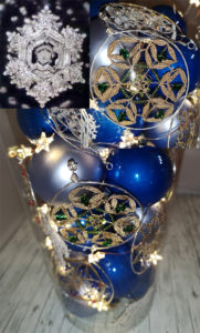Christmas decorations with Bobbin , Dr. Emoto Love