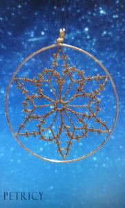 Beginners bobbin lace ornament