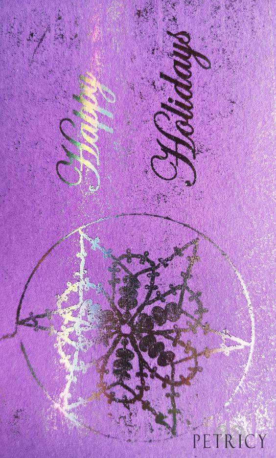Bobbin Lace foil art print
