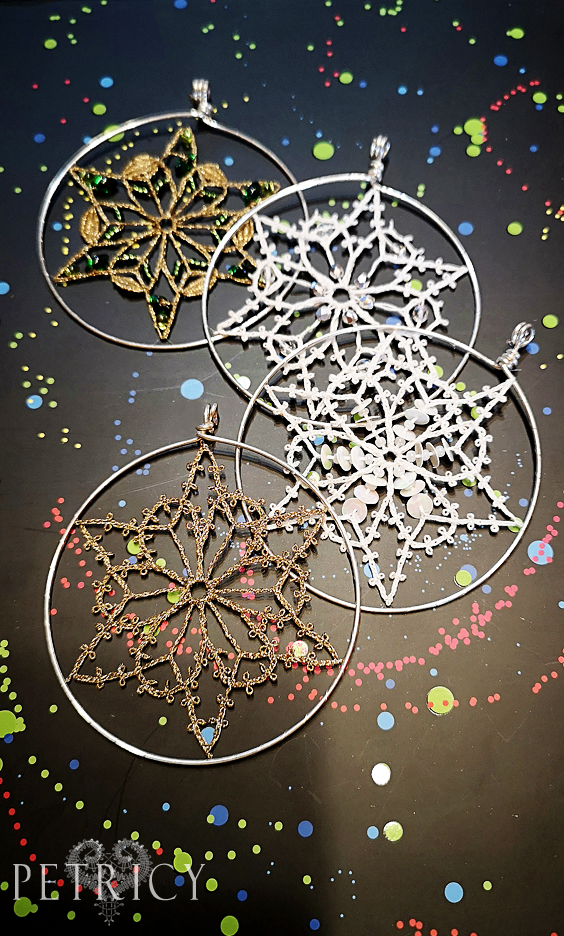 Simple Bobbin Lace Snowflake