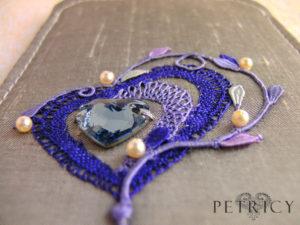 Three Hearts - Purple_Blue and Lavender