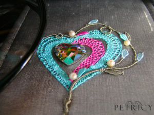 Three Hearts - Cheky Light Blue and Vibrant Pink