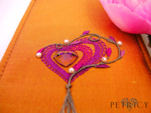 Three Hearts - Maroon and Violet_Red
