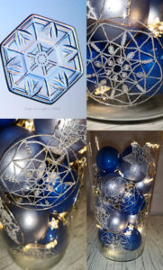 Christmas decorations with Bobbin Lace