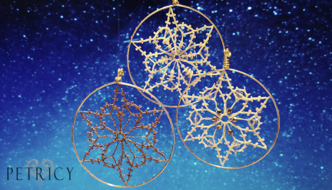 Beginners bobbin lace ornaments