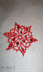 Wrong thread on a wrong bobbin lace pattern
