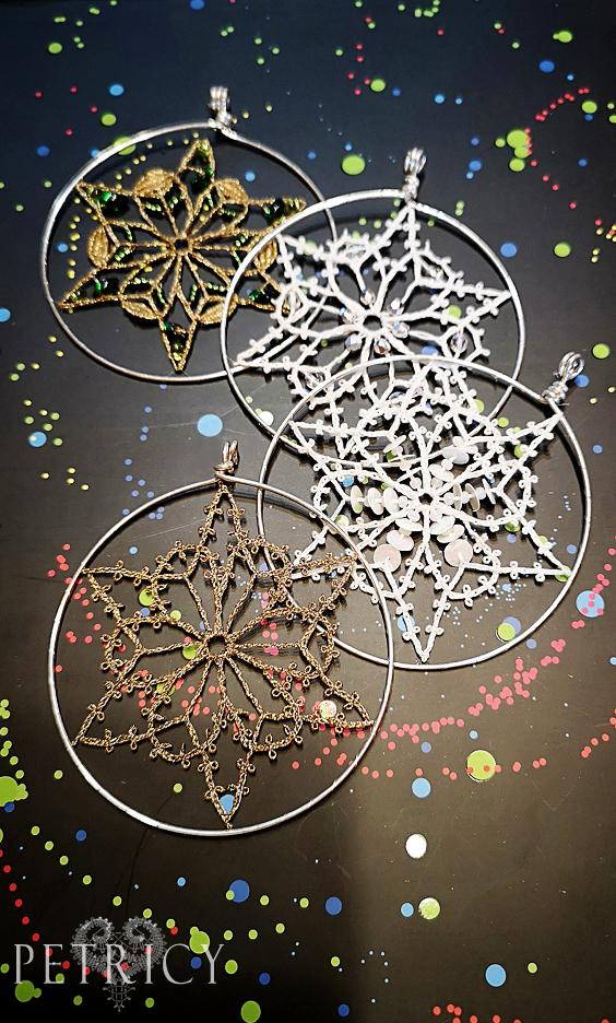 Simple Bobbin Lace Snowflake